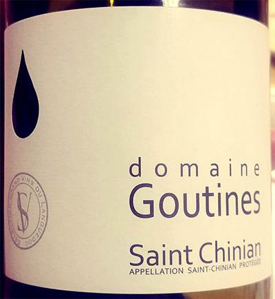 Отзыв о вине Domaine Goutines Saint Chinian 2013