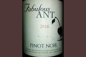 Отзыв о вине Fabulous Ant Pinot Noir 2016