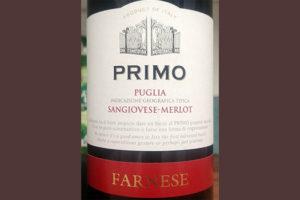 Отзыв о вине Farnese Primo Sangiovese — Merlot 2016