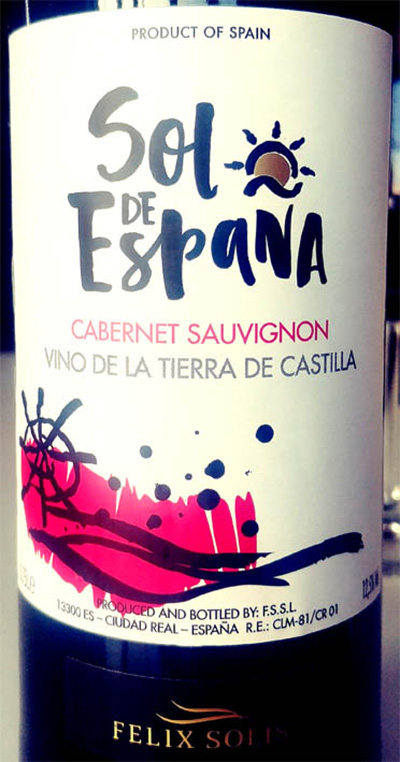Отзыв о вине Felix Solis Sol de Espana Cabernet Sauvignon 2017