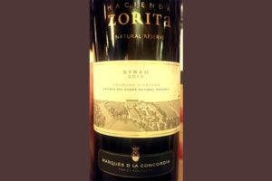 Отзыв о вине Hacienda Zorita natural reserve Syrah Unamino Vineyard 2015