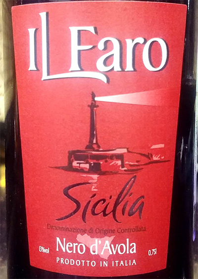 Отзыв о вине Il Faro Sicilia Nero d'Avola 2017
