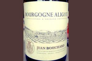 Отзыв о вине Jean Bouchard Bourgogne Aligote 2015