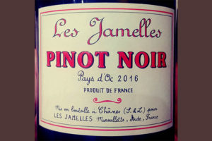 Отзыв о вине Les Jamelles Pinot Noir 2016