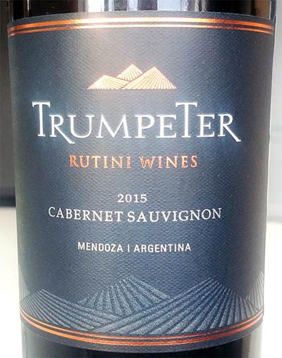 Отзыв о вине Rutini Wines Trumpeter Cabernet Sauvignon 2015