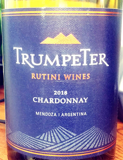 Отзыв о вине Rutini Wines Trumpeter Chardonnay 2018
