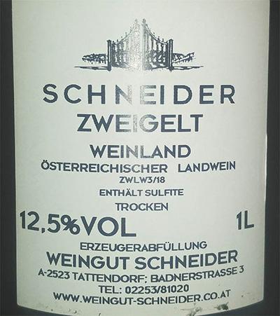 Отзыв о вине Schneider Zweigelt Weinland trocken 2017