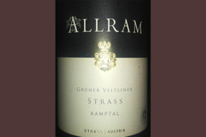 Отзыв о вине Strass Allram Gruner Veltliner Kamptal 2017