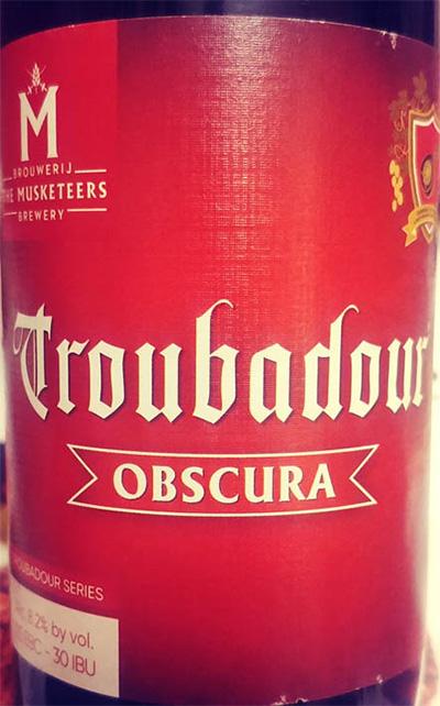 Отзыв о пиве Troubadour Obscura