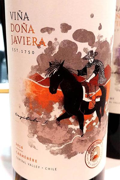 Отзыв о вине Vina Dona Javiera Carmenere 2016