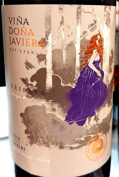 Отзыв о вине Vina Dona Javiera Merlot reserva 2015