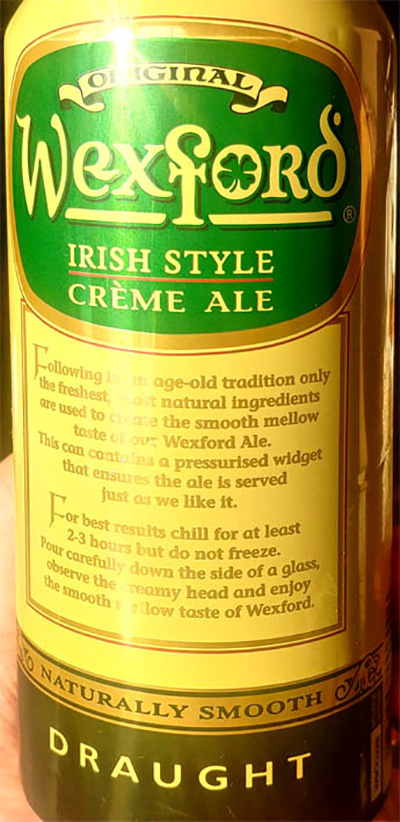 Отзыв о пиве Wexford original Irish style creme ale