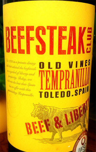 Отзыв о вине Beefsteak Club old wines Tempranillo Beef & Liberty 2016
