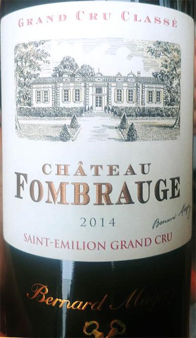 Отзыв о вине Bernard Magrez Chateau Fombrauge Saint-Emilion grand cru 2014