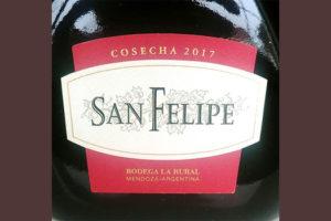 Отзыв о вине Bodega la Rural San Felipe cosecha 2017