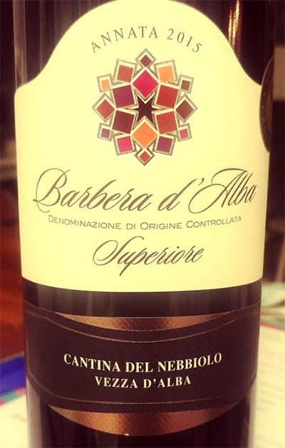 Отзыв о вине Cantina del Nebbiolo Barbera d'Alba superiore 2015