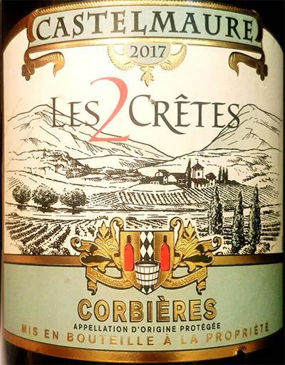 Отзыв о вине Castelmaure Les 2 Cretes Corbieres rouge 2017