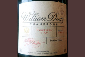 Отзыв об игристом вине Champagne Cuvee Hommage William Deutz Brut Pinot Noir 2010