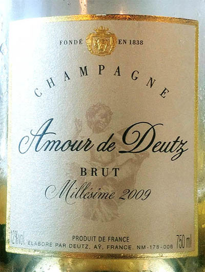 Отзыв об игристом вине Champagne Cuvee Amour Deutz Brut Millesime 2009