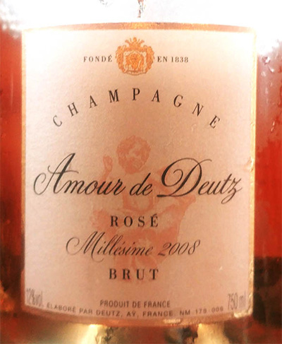 Отзыв об игристом вине Champagne Cuvee Amour Deutz Brut Rose Millesime 2008