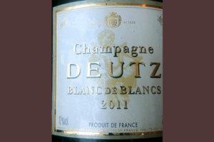Отзыв об игристом вине Champagne Deutz Brut Blanc de Blancs 2011