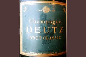 Отзыв об игристом вине Champagne Deutz Brut Classic
