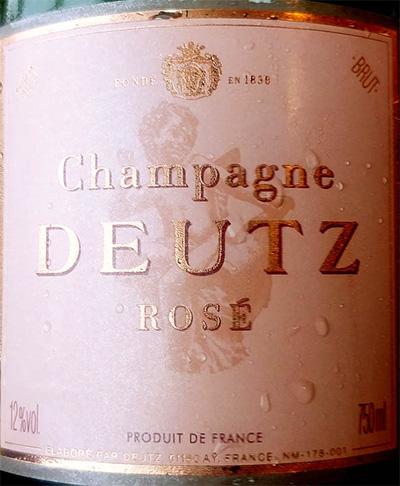 Отзыв об игристом вине Champagne Deutz Brut Rose