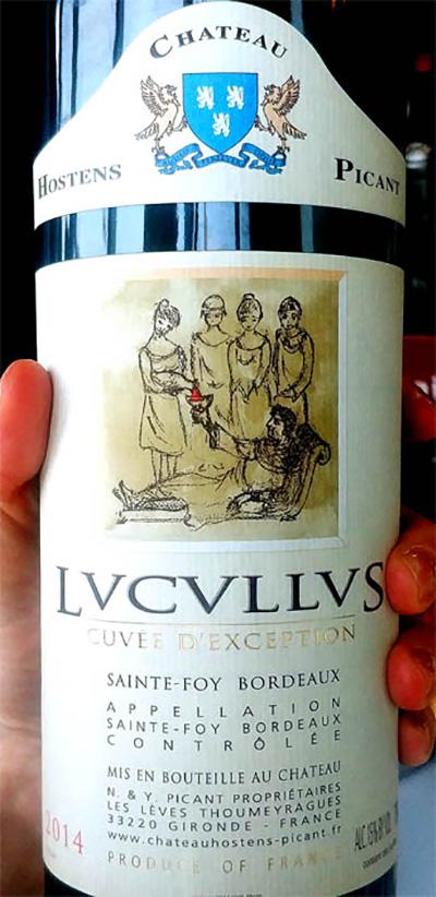 Отзыв о вине Chateau Hostens - Picant Cuvee d'Exception Lucullus Sainte-Foy Bordeaux 2014