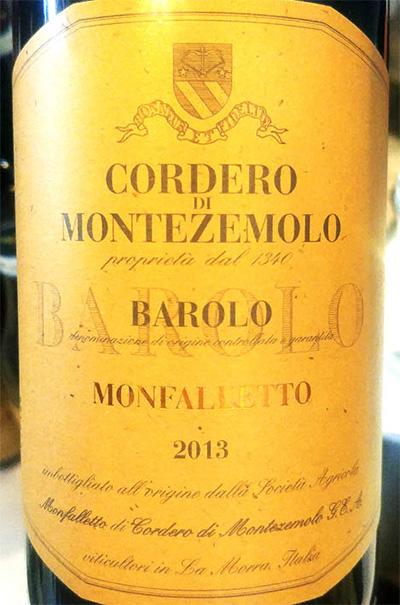 Отзыв о вине Cordero di Montezemolo Barolo Monfallitto 2013