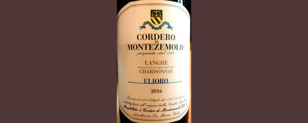 Отзыв о вине Cordero di Montezemolo Elioro Caherdonnay Langhe 2016