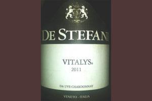 Отзыв о вине De Stefani Vitalis Da Uve Chardonnay 2011