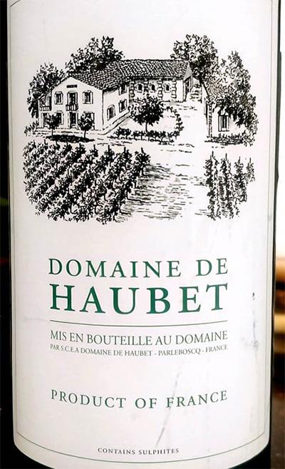 Отзыв о вине Domaine de Haubet blanc 2013
