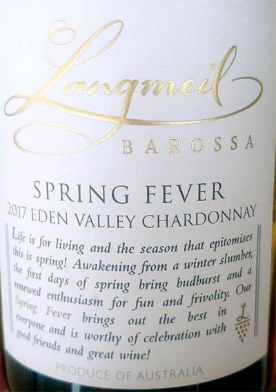 Отзыв о вине Langmeil Spring Fever Eden Valley Chardonnay 2017
