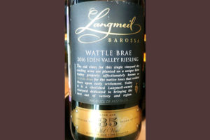 Отзыв о вине Langmeil Wattle Brae Eden Valley Riesling 35 Vin Age 2016