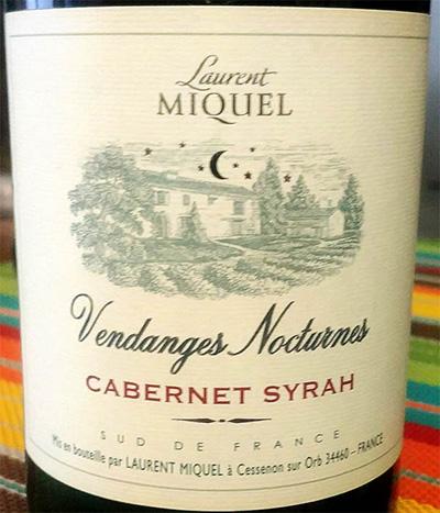 Отзыв о вине Laurent Miquel Vendanges Nocturnes Cabernet Syrah 2017