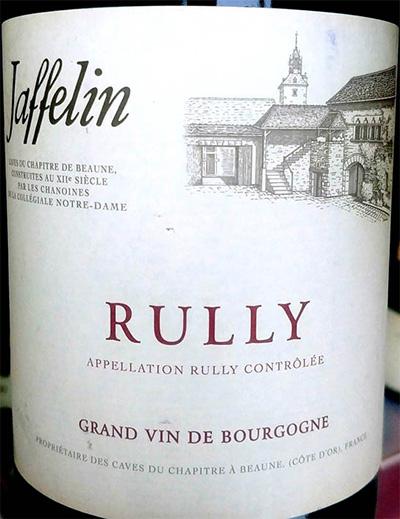 Отзыв о вине Les Chapitres de Jaffelin Rully blanc Bourgogne 2016