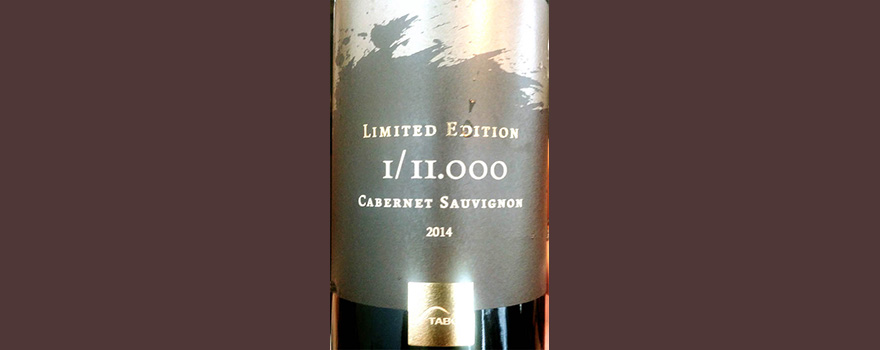 Отзыв о вине Mt. Tabor Limited Edition I/II.000 Cabernet Sauvignon 2014