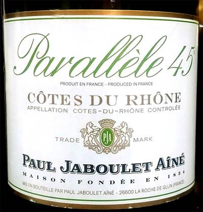 Отзыв о вине Paul Jaboulet Aine Parallele 45 2015