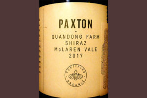Отзыв о вине Paxton Quandong Farm Shiraz 2017