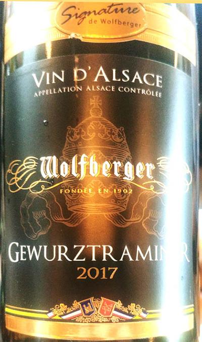 Отзыв о вине Signature de Wolfberger Vin d'Alsace Wolfberger Gewurztraminer 2017