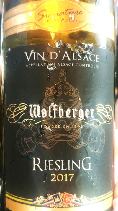 Отзыв о вине Signature de Wolfberger Vin d'Alsace Wolfberger Riesling 2017