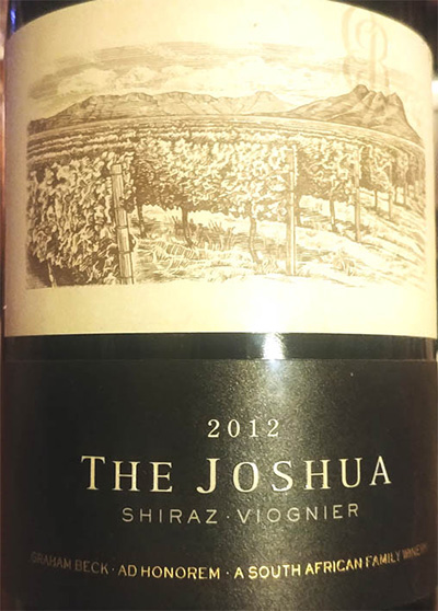 Отзыв о вине The Joshua Shiraz Viognier 2012