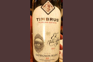 Отзыв о вине Timbrus Purcari Estate Sauvignon Blanc 2017