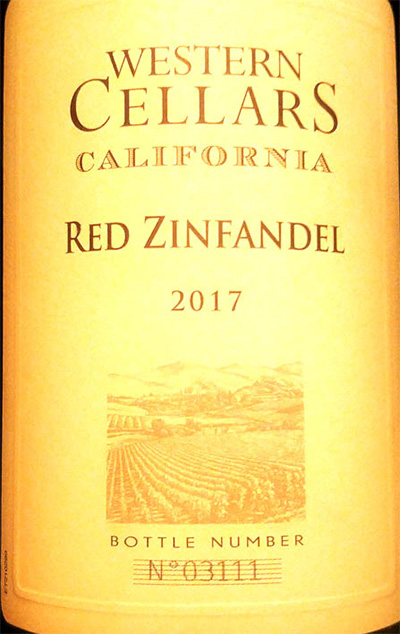 Отзыв о вине Western Cellars Red Zinfandel 2017
