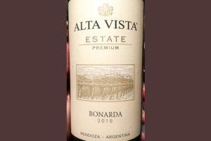 Отзыв о вине Alta Vista Bonarda Estate Premium 2016