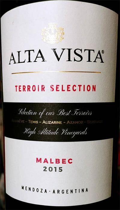 Отзыв о вине Alta Vista Terrior selection Malbec Mendoza 2015