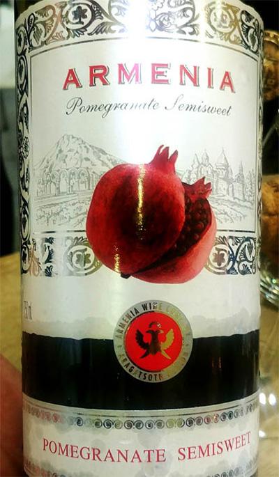 Отзыв о вине Armenia Pomegranate semisweet red 2017