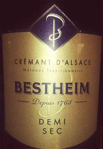 Отзыв об игристом вине Bestheim Cremant d'Alsace demi sec blanc