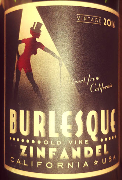 Отзыв о вине Burlesque old wine Zinfandel California 2016