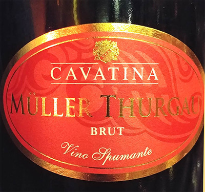 Отзыв об игристом вине Cavatina Muller Turgau brut spumante